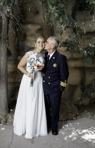 Las Vegas Wedding Bride with Father