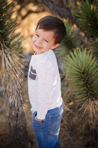 Las Vegas Family Photography- Child Red rock