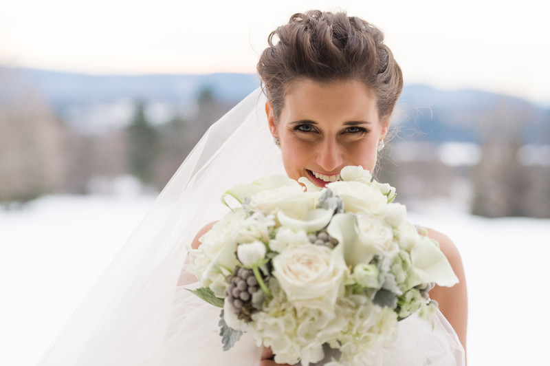 Berkshire MA Winter Wedding Photographer