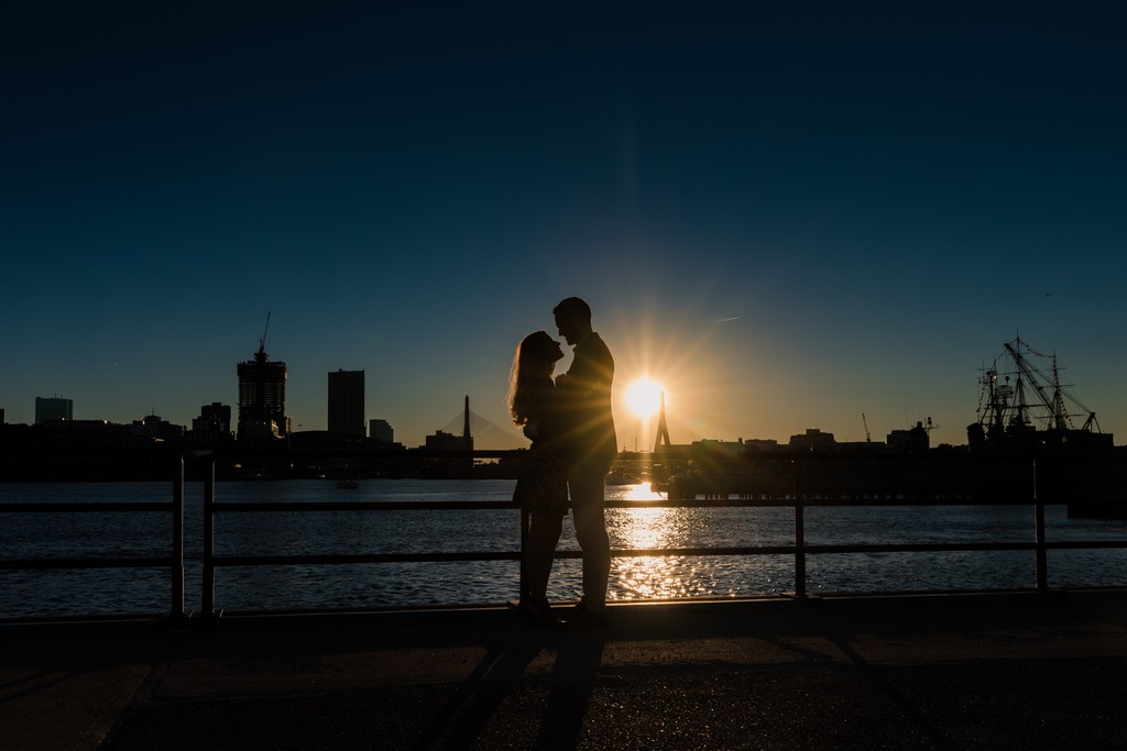Boston Sunset Engagement Photographer