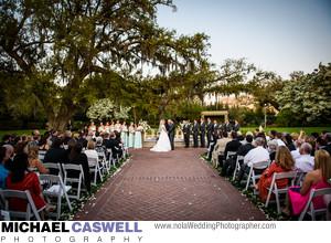 City Park Botanical Garden Wedding Ceremony