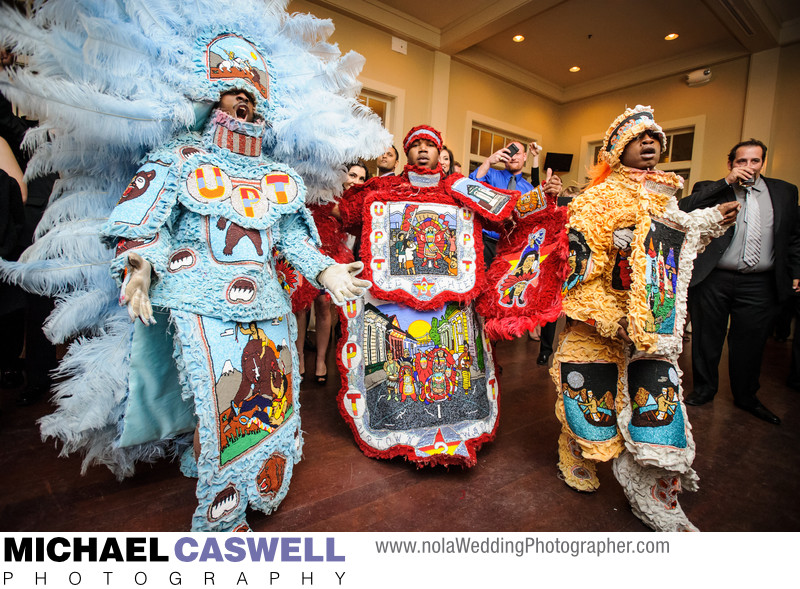 Mardi Gras Indians at Audubon Golf Clubhouse