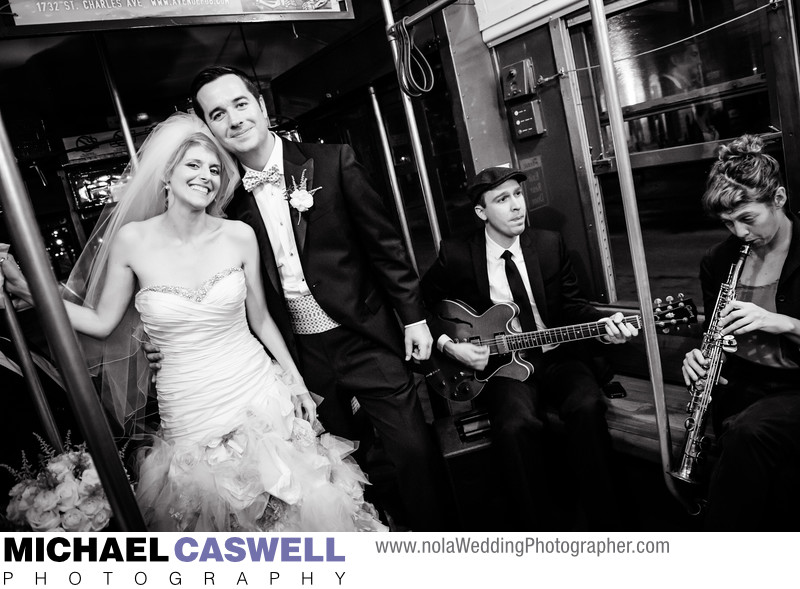 Newly Married Couple Rides the Streetcar