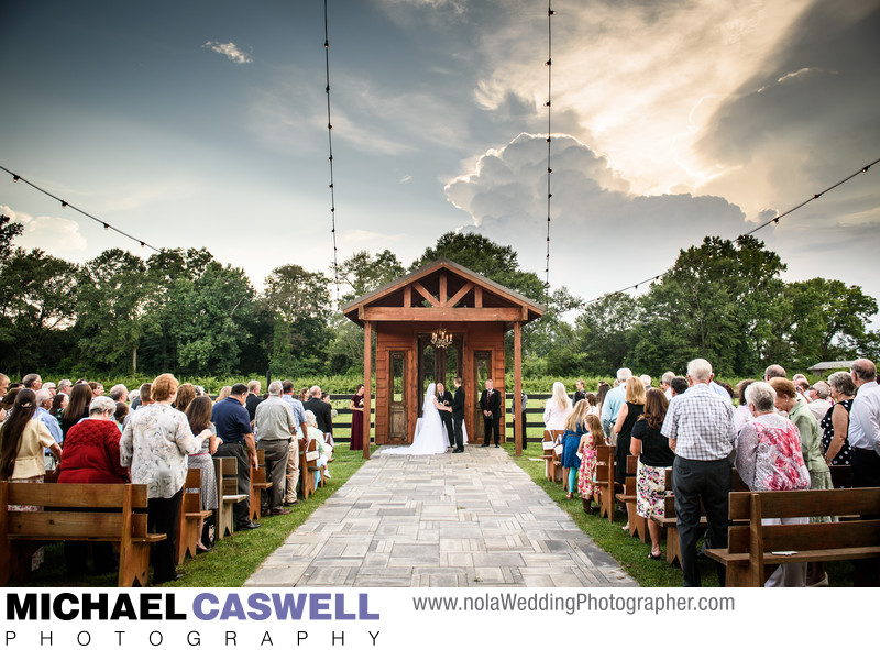 Berry Barn Outdoor Wedding Ceremony