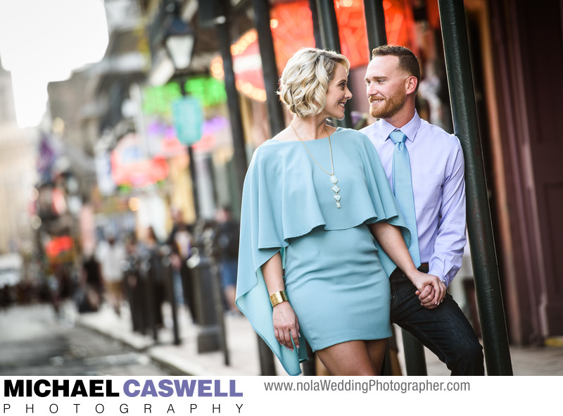 Engagement Portrait on Bourbon Street