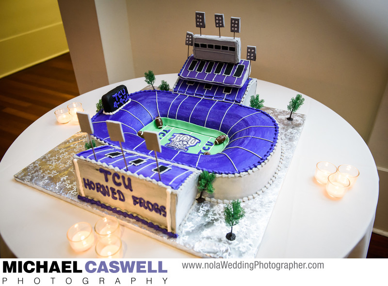 TCU Horned Frogs Stadium groom's cake
