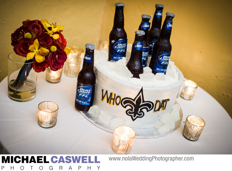Who Dat and Bud Light Groom's Cake