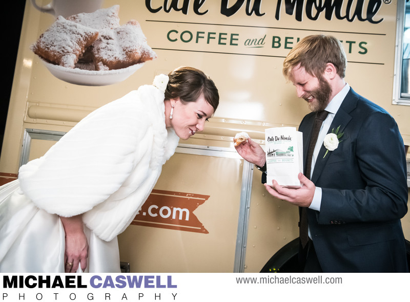 Cafe du Monde Food Truck at New Orleans Wedding