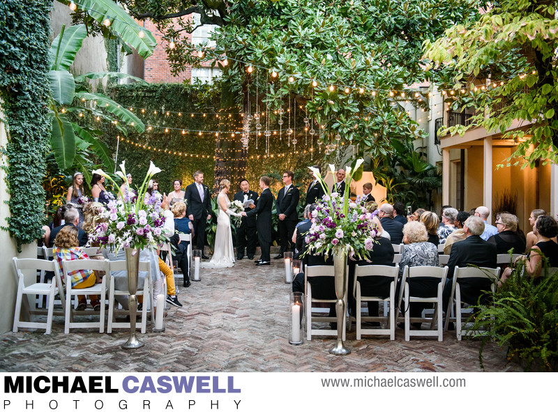 Wedding Ceremony at Maison Montegut