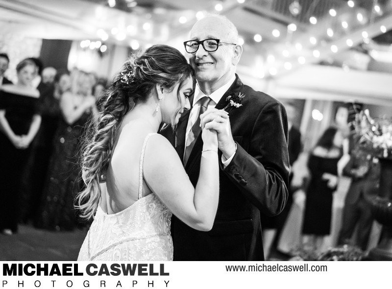 Father and Bride Dance at Broussard's Courtyard Wedding