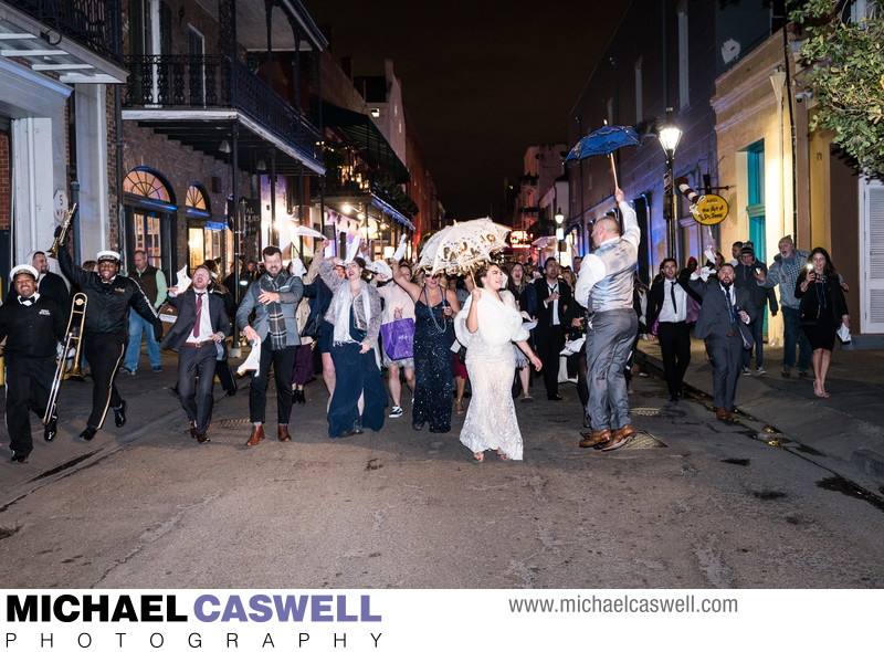 Second Line Parade in the French Quarter
