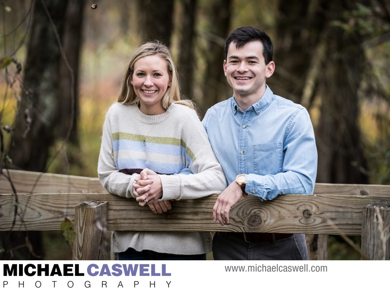Engagement Portrait by Cypress Island Visitor Center