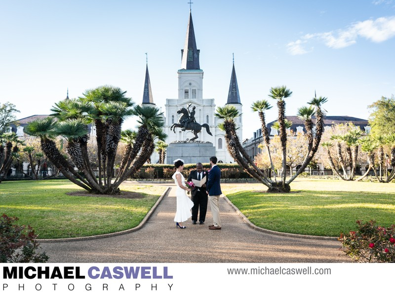 Elopement in Jackson Square New Orleans