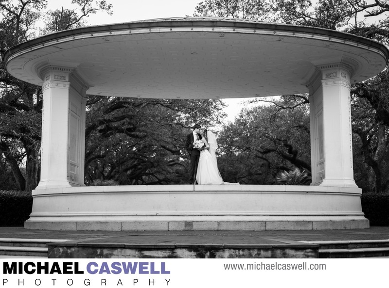 Portrait of Married Couple at Newman Bandstand