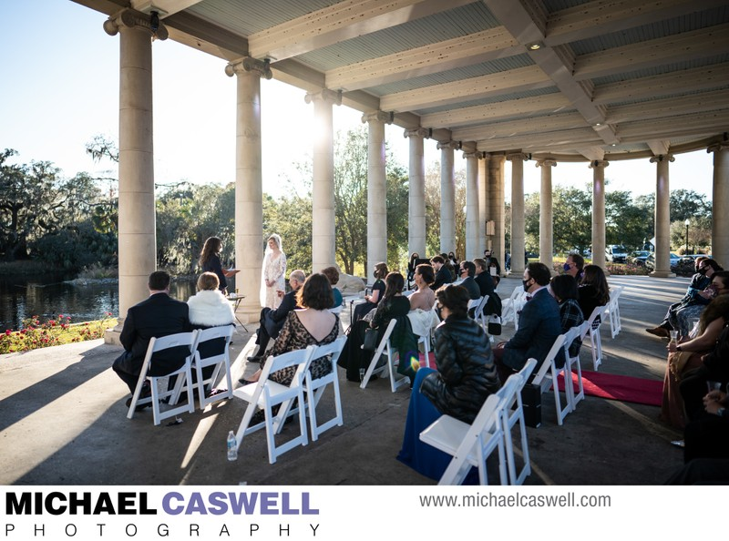 Peristyle Wedding Ceremony in City Park