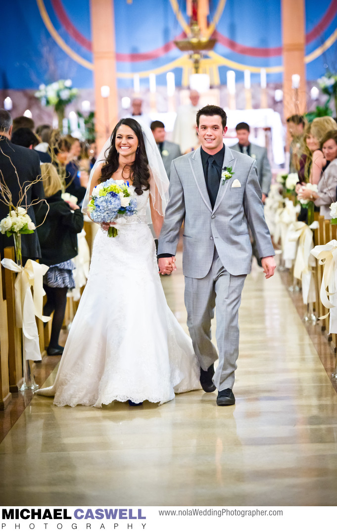 Baton Rouge Wedding Ceremony at Saint Agnes Catholic Church