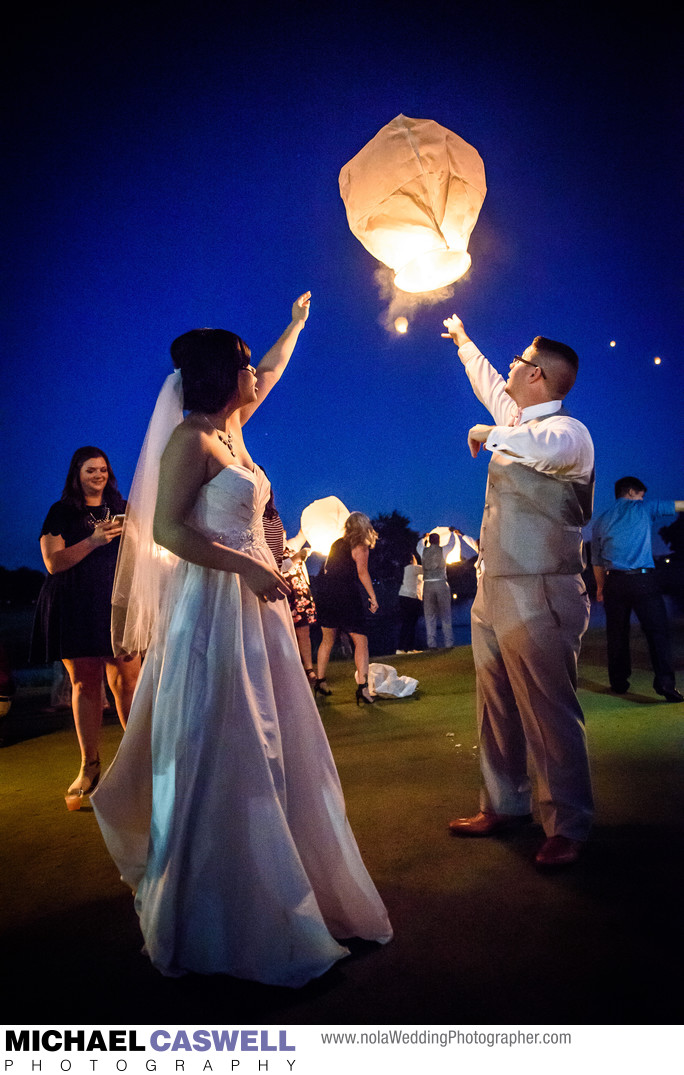 Chinese Sky Lanterns Released During Reception