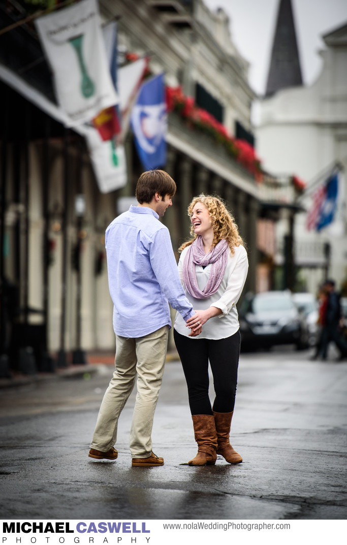 New Orleans Engagement Portrait in the French Quarter