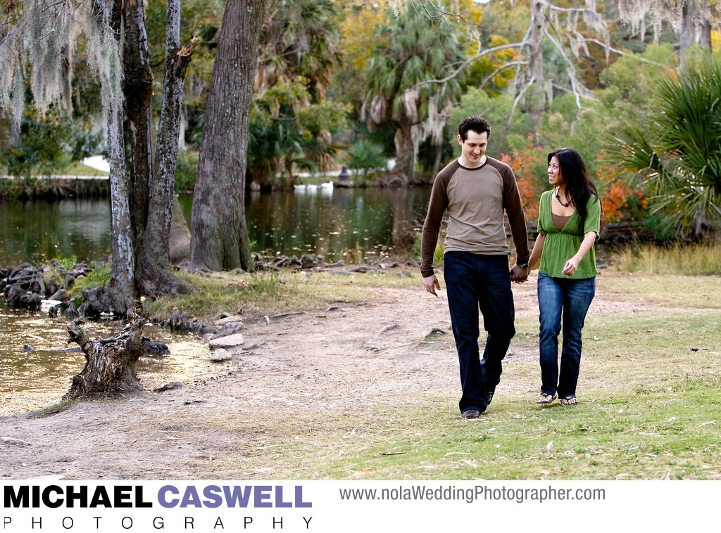 New Orleans Engagement Portrait in City Park