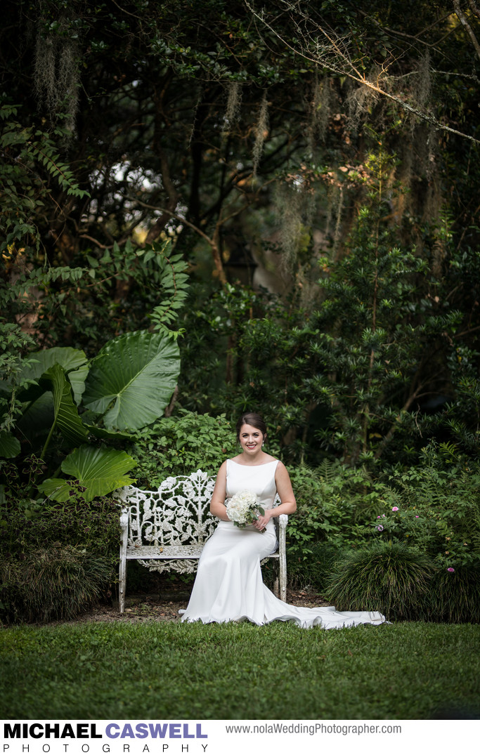 Bridal Portrait at the LSU Rural Life Museum