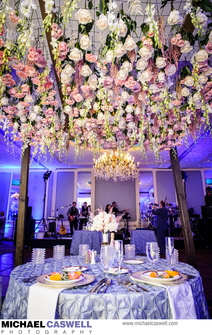 Canopy of Flowers over Head Table