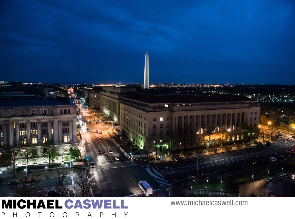 Downtown Washington DC at Night