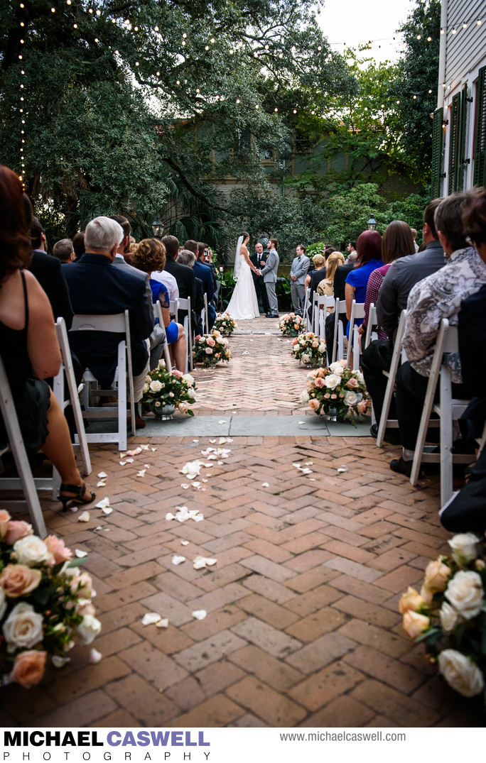 Wedding Ceremony at Degas House