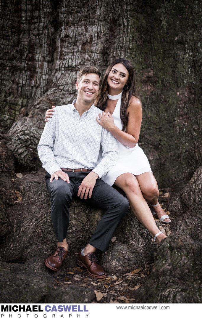 Audubon Park Tree of Life Engagement Portrait