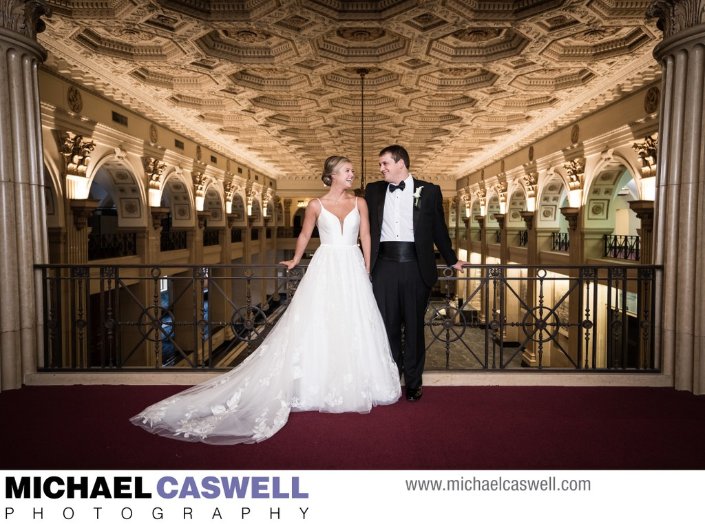 Wedding Portrait of Couple at Capital on Baronne