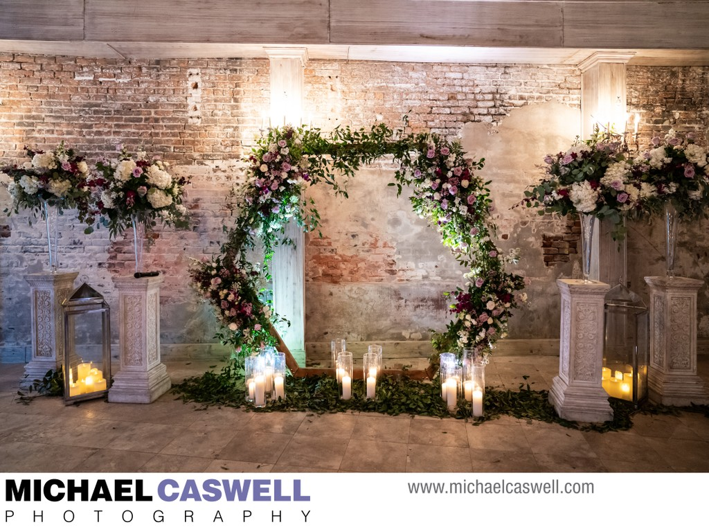 Beth's Florist Wedding Ceremony Setup