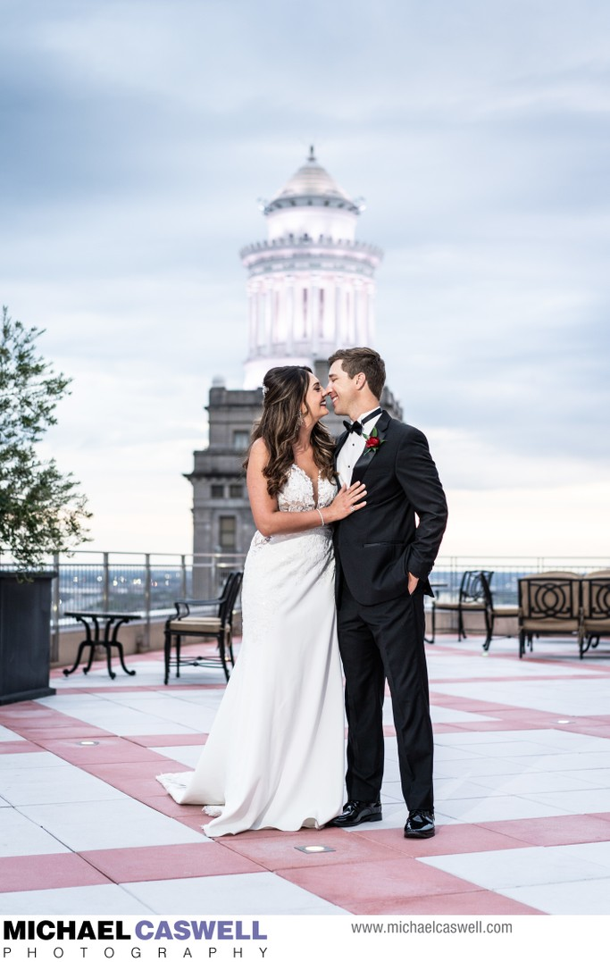 Portrait of Bride and Groom at Capital on Baronne