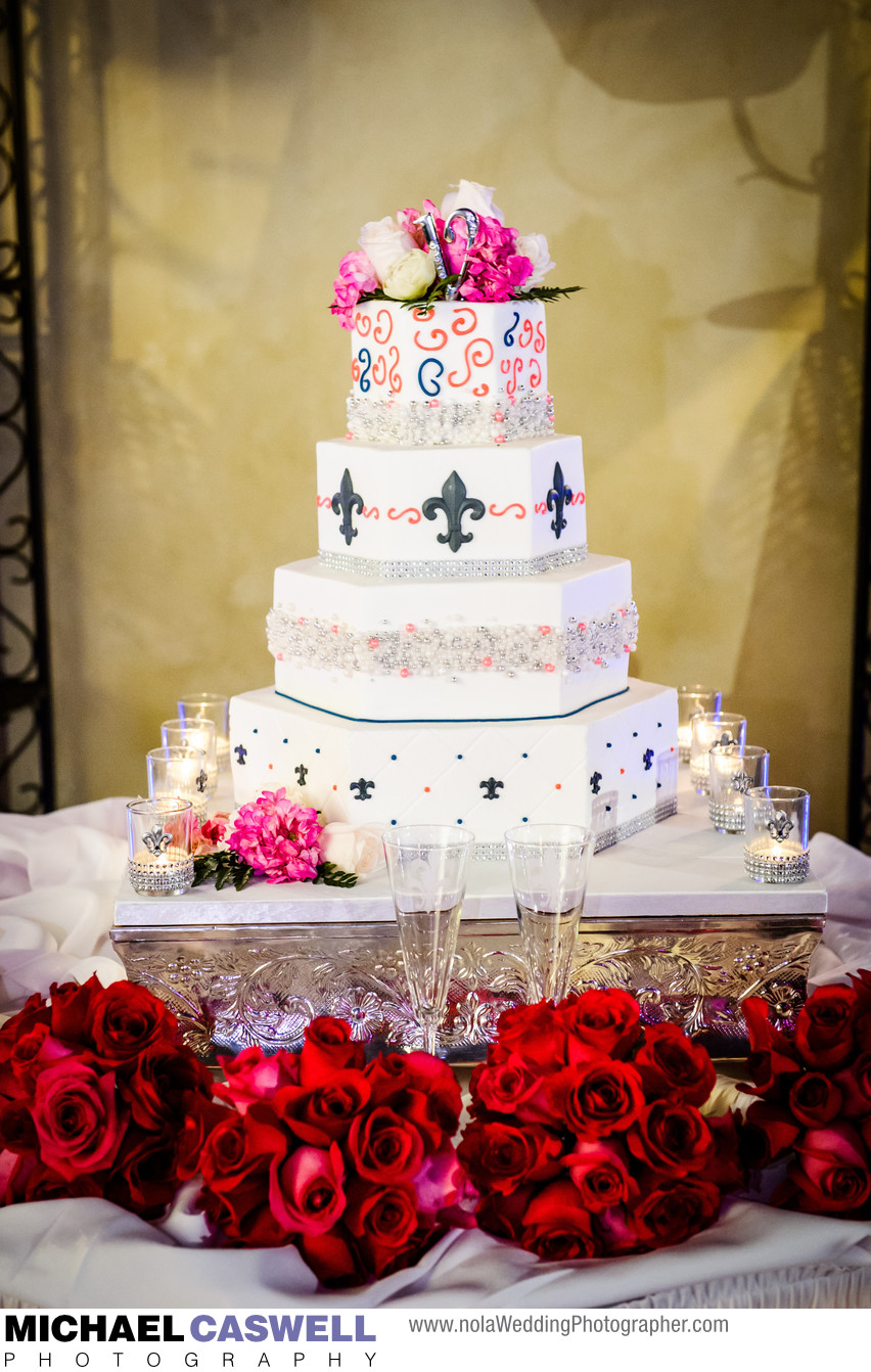 Fleur de Lis Center Mandeville Wedding Cake
