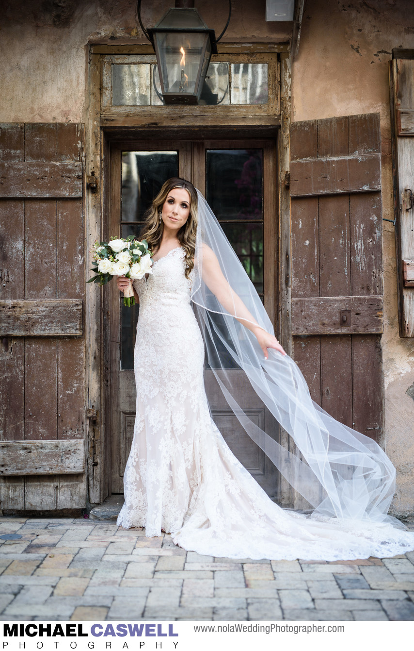 Bridal Portrait at Race and Religious Wedding Venue