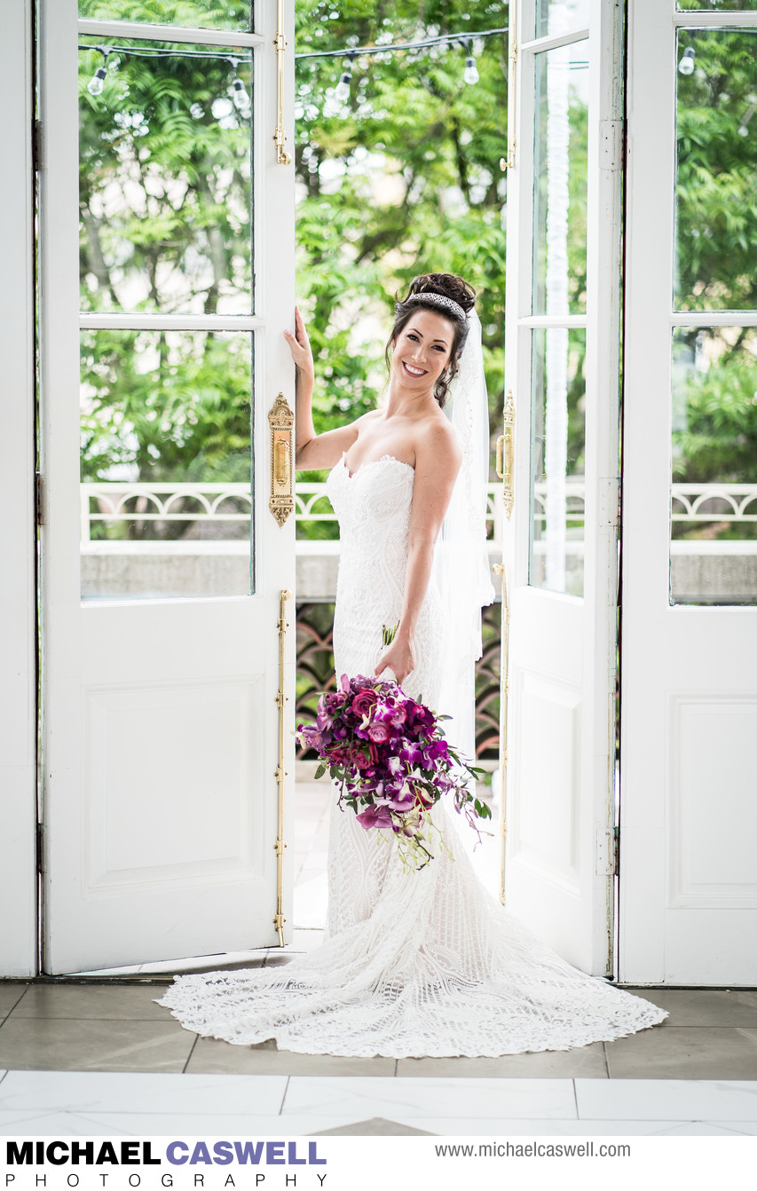 Bridal Portrait at Marché Wedding Venue in New Orleans