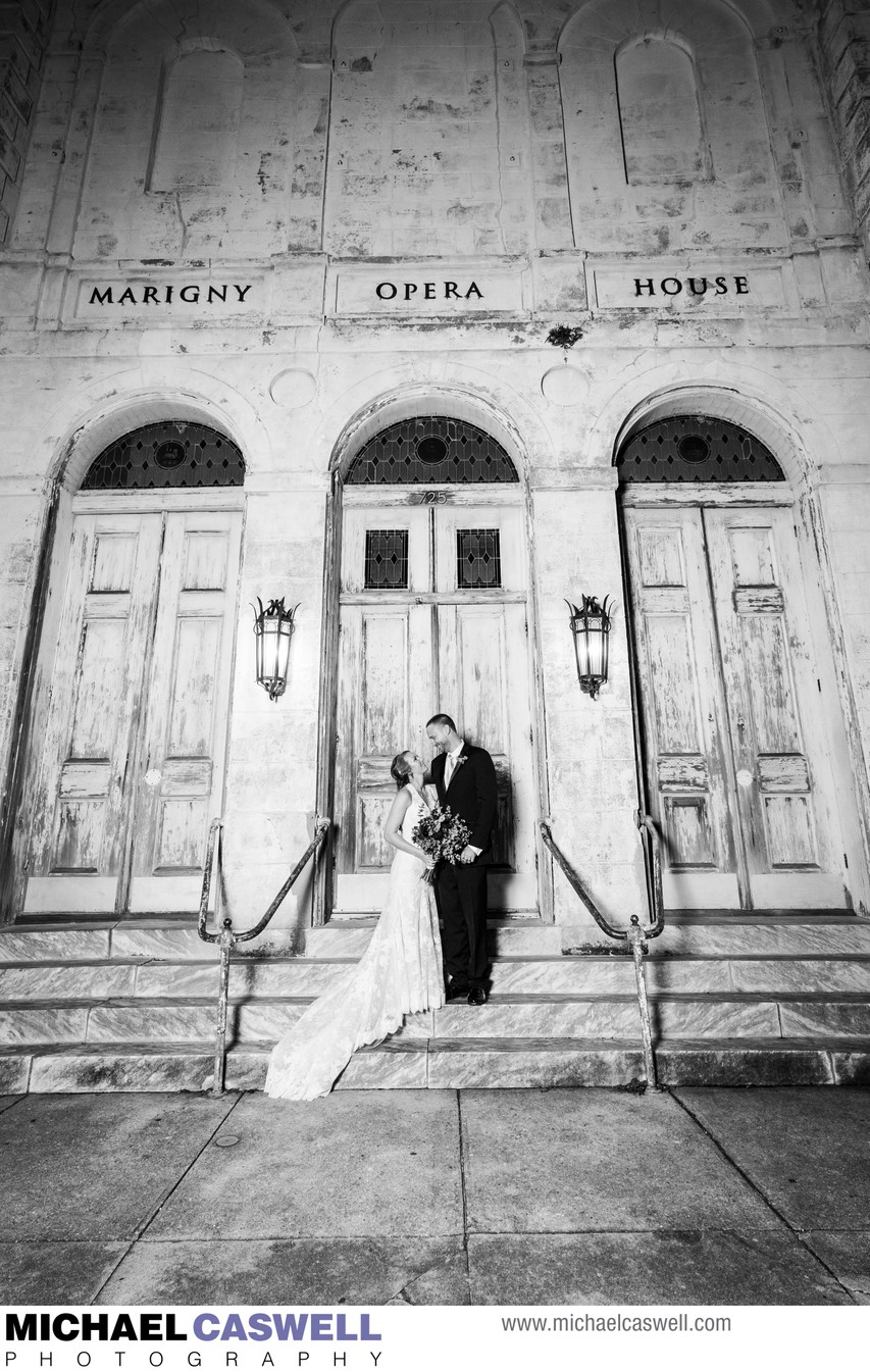 Marigny Opera House Wedding Portrait of Bride and Groom