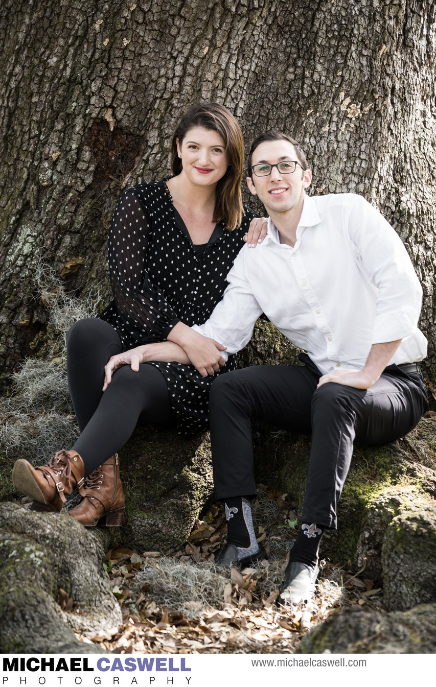 Engagement Portrait in Audubon Park