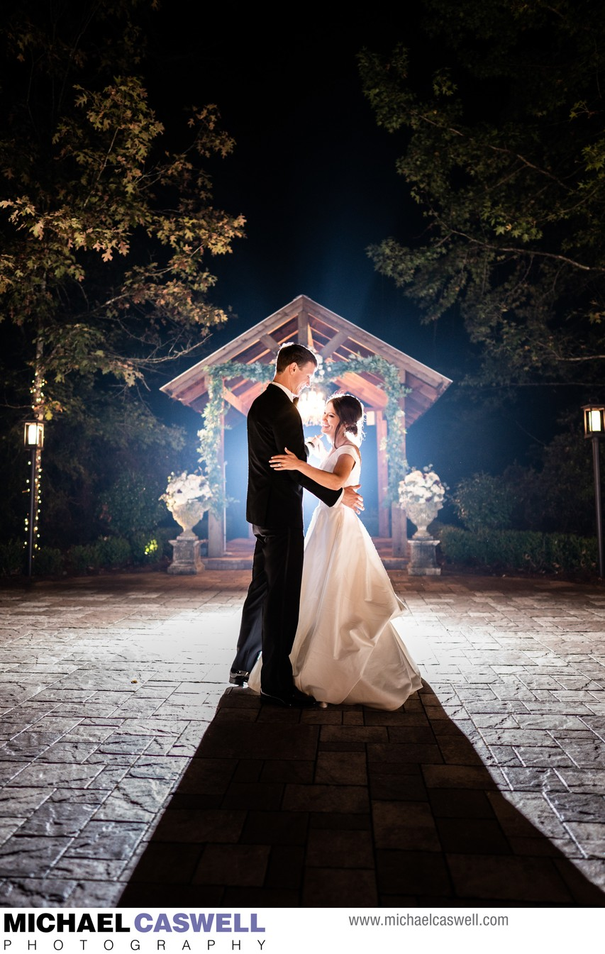Bride and Groom at Greystone Wedding in Mandeville