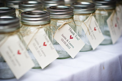 Mason Jars at Palmettos Wedding in Slidell