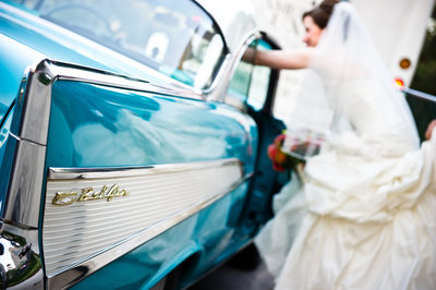 Bride Gets Into Antique Bel-Air