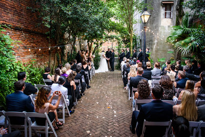 New Orleans Pharmacy Museum Wedding Photo