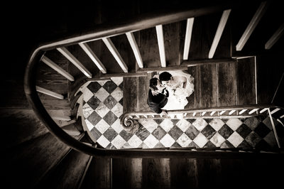 Latrobes on Royal Bride and Groom Portrait on Stairs