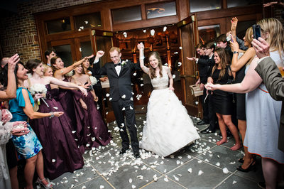Audubon Tea Room Wedding Flower Petal Send-Off