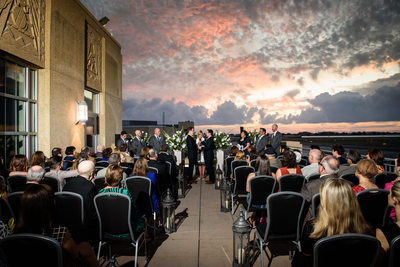 Ceremony at Messina's at the Terminal Lakefront Airport