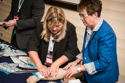 Medical conference hands-on training session