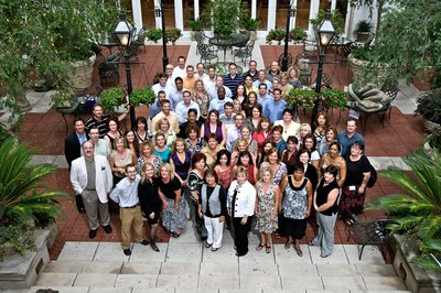 Group photo of insurance meeting event in New Orleans
