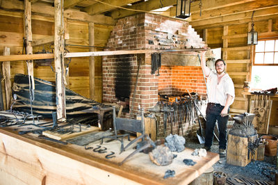 Blacksmith working at Mount Vernon