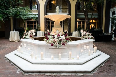 Courtyard Fountain Decor at Hotel Mazarin
