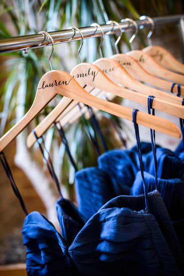 Bridesmaid Dresses on Personalized Hangers