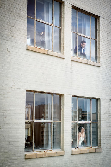 Bride and Groom at Pere Marquette Hotel