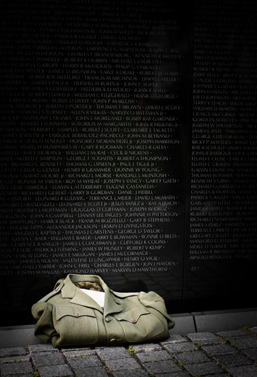 Uniform Left at Vietnam Memorial